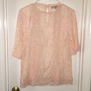 Peach/blush lace shirt